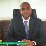 chine: ceremonie d'ouverture de la 130e foire du canton/ le premier ministre ivoirien a prononce un discours par video
