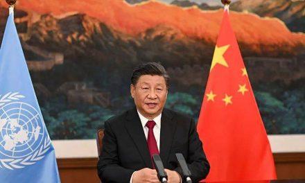 chine: soMMET DES DIRIGEANTS DE LA COP15/ le president xi jinping a participe par liaison video et a prononce un discours liminaire